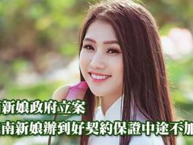 越南新娘政府立案娶越南新娘辦到好契約保證中途不加價!